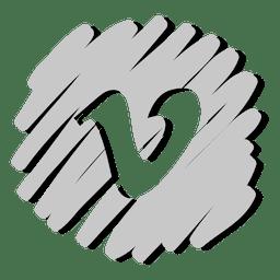 Vimeo distorsionado icono