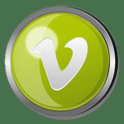 Vimeo round metal button