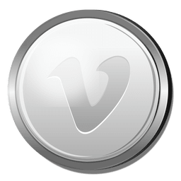 Vimeo silver circle icon