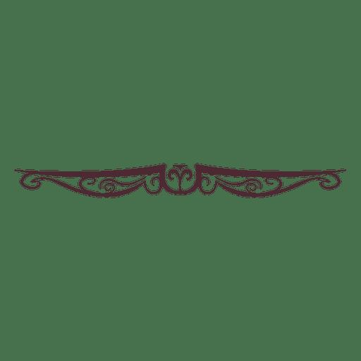 Adorno floral vintage 6 Transparent PNG