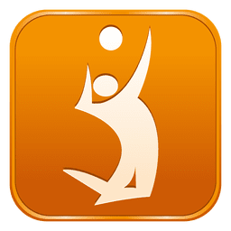 Voleyball square icon