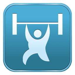 Weightlifting square icon