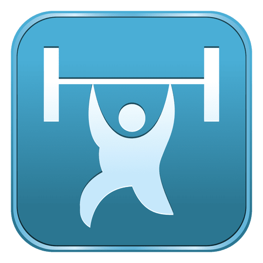 Weightlifting square icon Transparent PNG