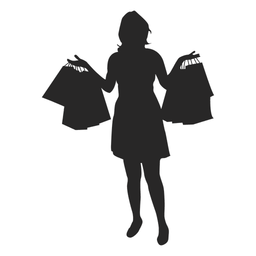 Woman carrying shopping bags - Transparent PNG & SVG vector