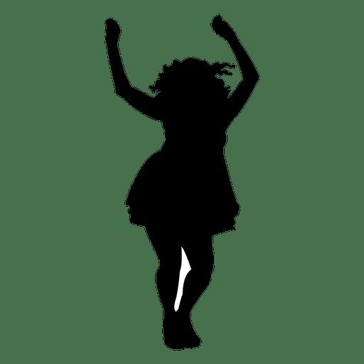 Mujer bailando silueta diseño Transparent PNG