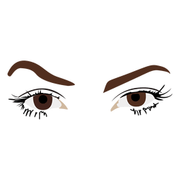 Mujer ojos boceto