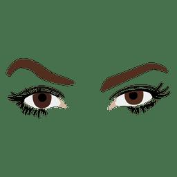 Ojos de la mujer del bosquejo