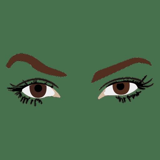 Mujer ojos boceto Transparent PNG