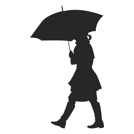 Woman With Umbrella Transparent Png Svg Vector