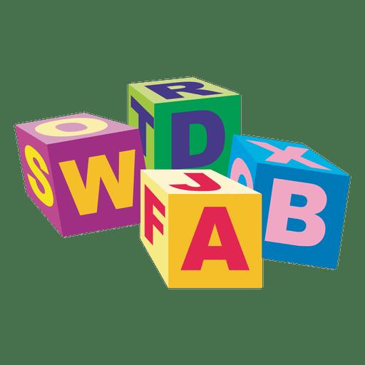 Cubos alfapeticos de madera Transparent PNG