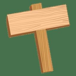 Sinal de madeira
