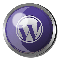 Wordpress botón redondo de metal