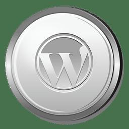Icono 3D de Wordpress Silver