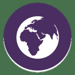 Welt rundes Symbol