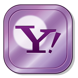 Yahoo metallic button