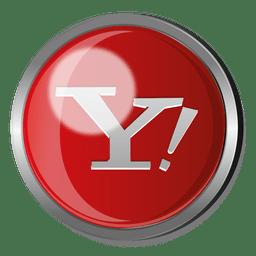 Yahoo round metal button