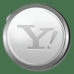 Icono 3D de plata de Yahoo