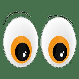 Yellow animal eyes