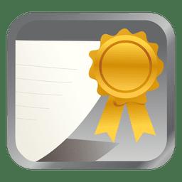 Yellow badge square icon