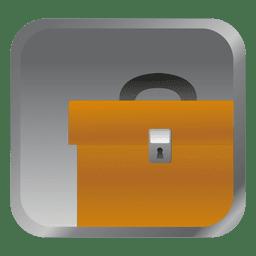 Icono cuadrado maletín amarillo