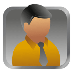 Yellow businessman square avatar