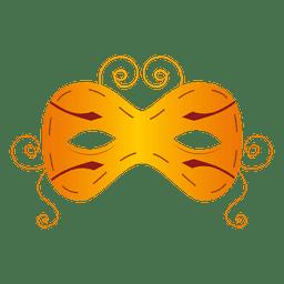 máscara de carnaval de color amarillo