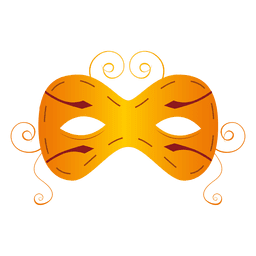 Yellow carnival mask