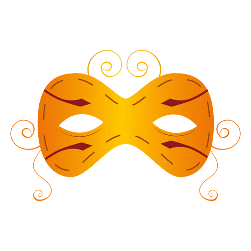 Yellow carnival mask Transparent PNG