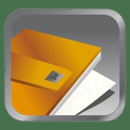 Ícone quadrado arquivo amarelo