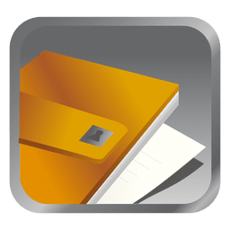 Yellow file square icon