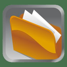 Yellow folder square icon