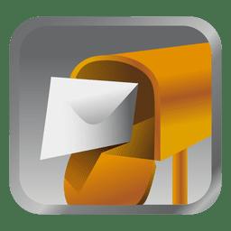 Ícone de caixa de mensagem amarela