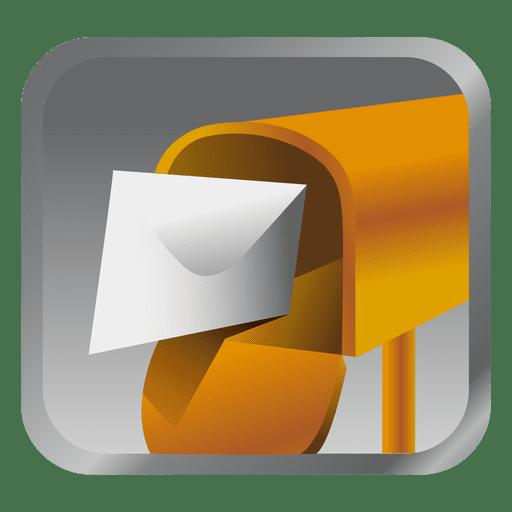 Icono de cuadro de mensaje amarillo Transparent PNG