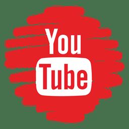 Youtube distorsionado icono redondo