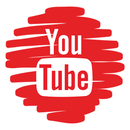 Youtube icono redondo distorsionado