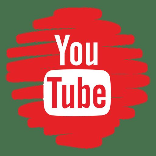 Ícone redondo distorcido do Youtube