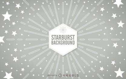 Starburst geométrico con estrellas