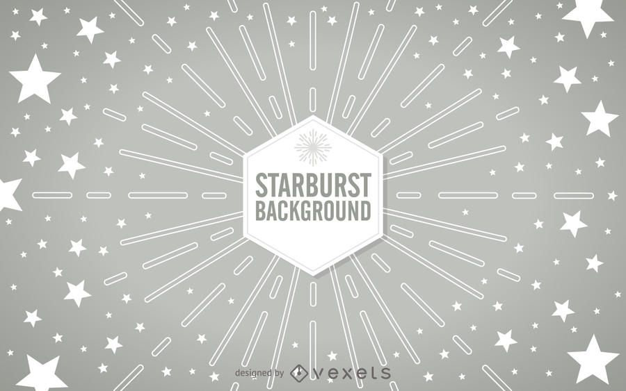 Geometric starburst with stars