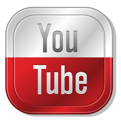 Youtube metallic button Transparent PNG