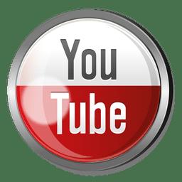 botão de metal rodada Youtube