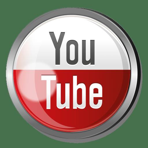 Botón Redondo De Metal De Youtube