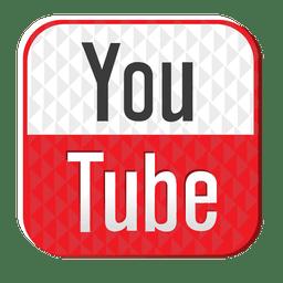 Icono de goma de YouTube