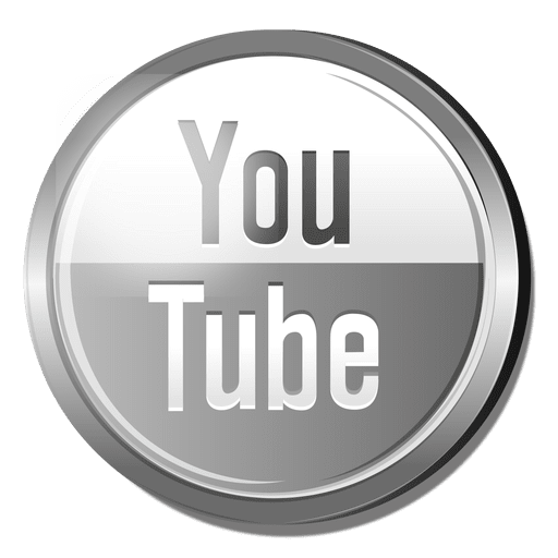 Logotipo do Youtube prata Transparent PNG