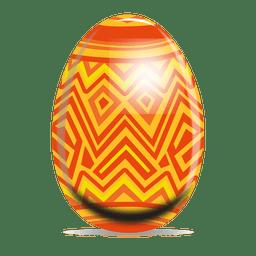 Huevo de pascua zig zag