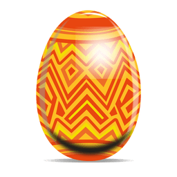 Ovo de Páscoa de padrão de ziguezague