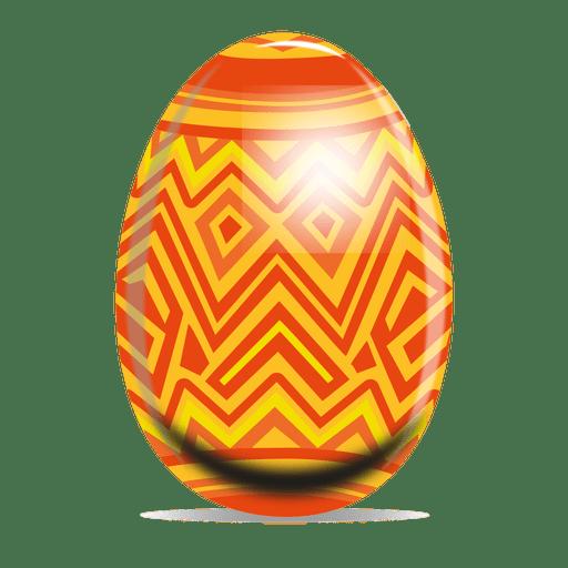 Zig zag pattern easter egg - Transparent PNG & SVG vector file