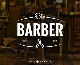 Barber shop logo label maker