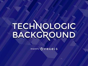 Fundo azul de tecnologia