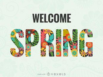Fabricante de cartazes da primavera