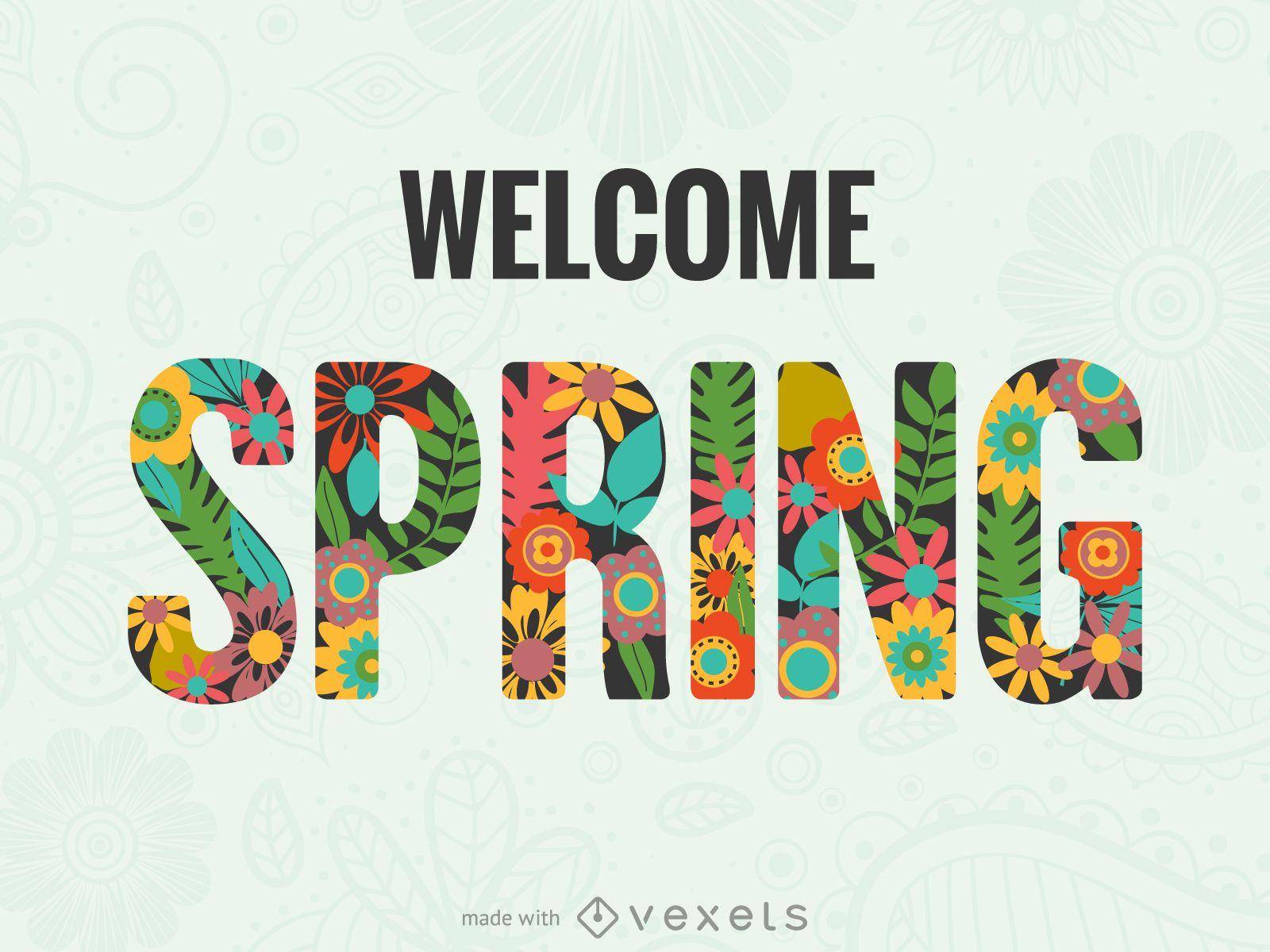 Fabricante de carteles de primavera